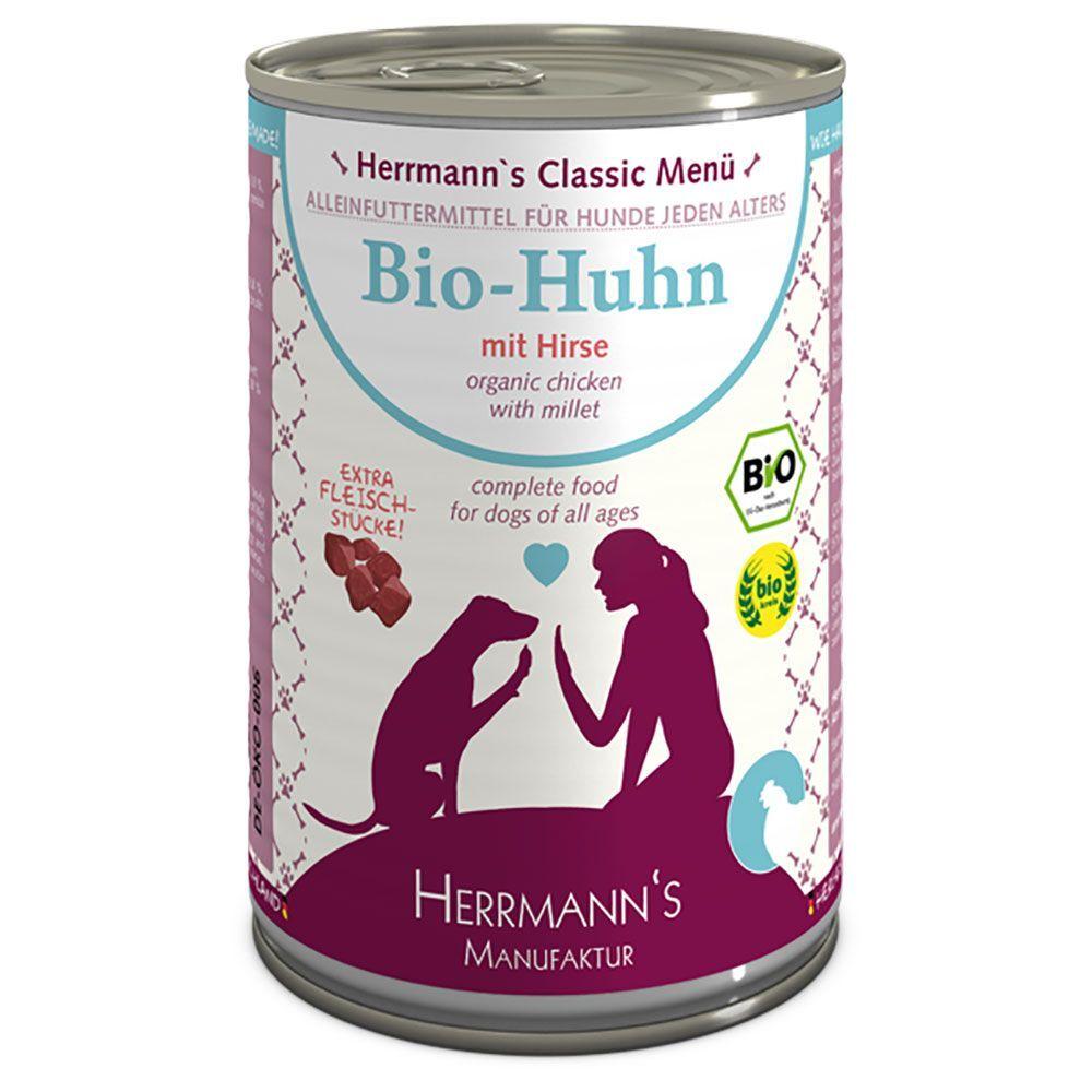 Herrmanns Lot Herrmanns Menu 12 x 400 g - poulet bio, millet bio, légumes bios