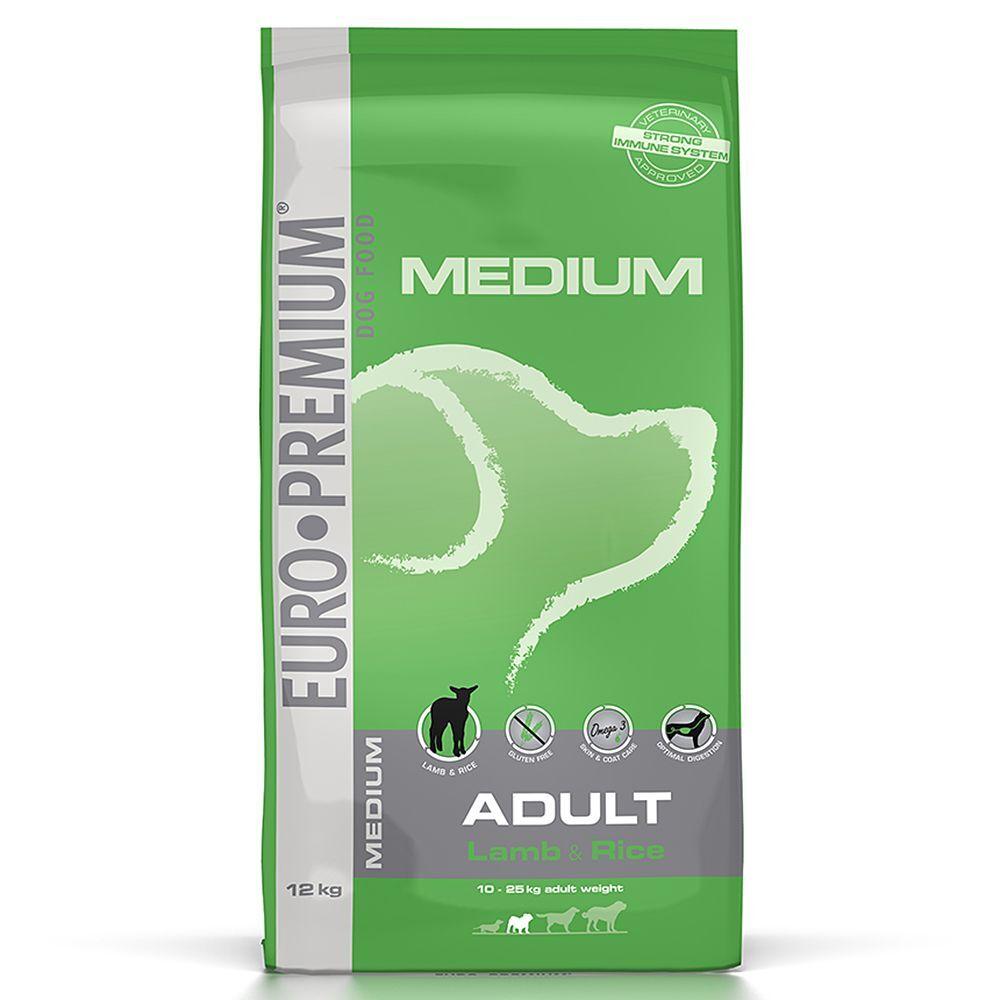 Euro Premium Medium Adult ,agneau & riz - 12 kg
