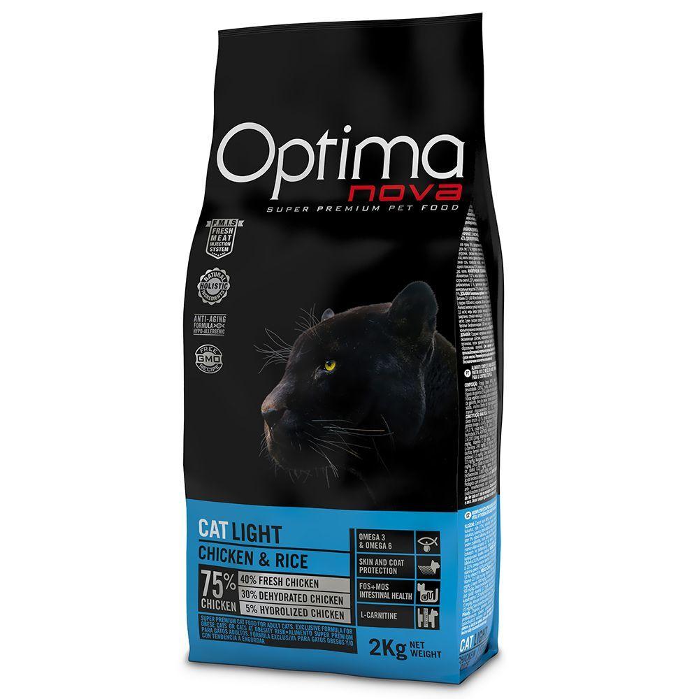 Optima 8kg Optimanova Light - Croquettes pour chat adulte