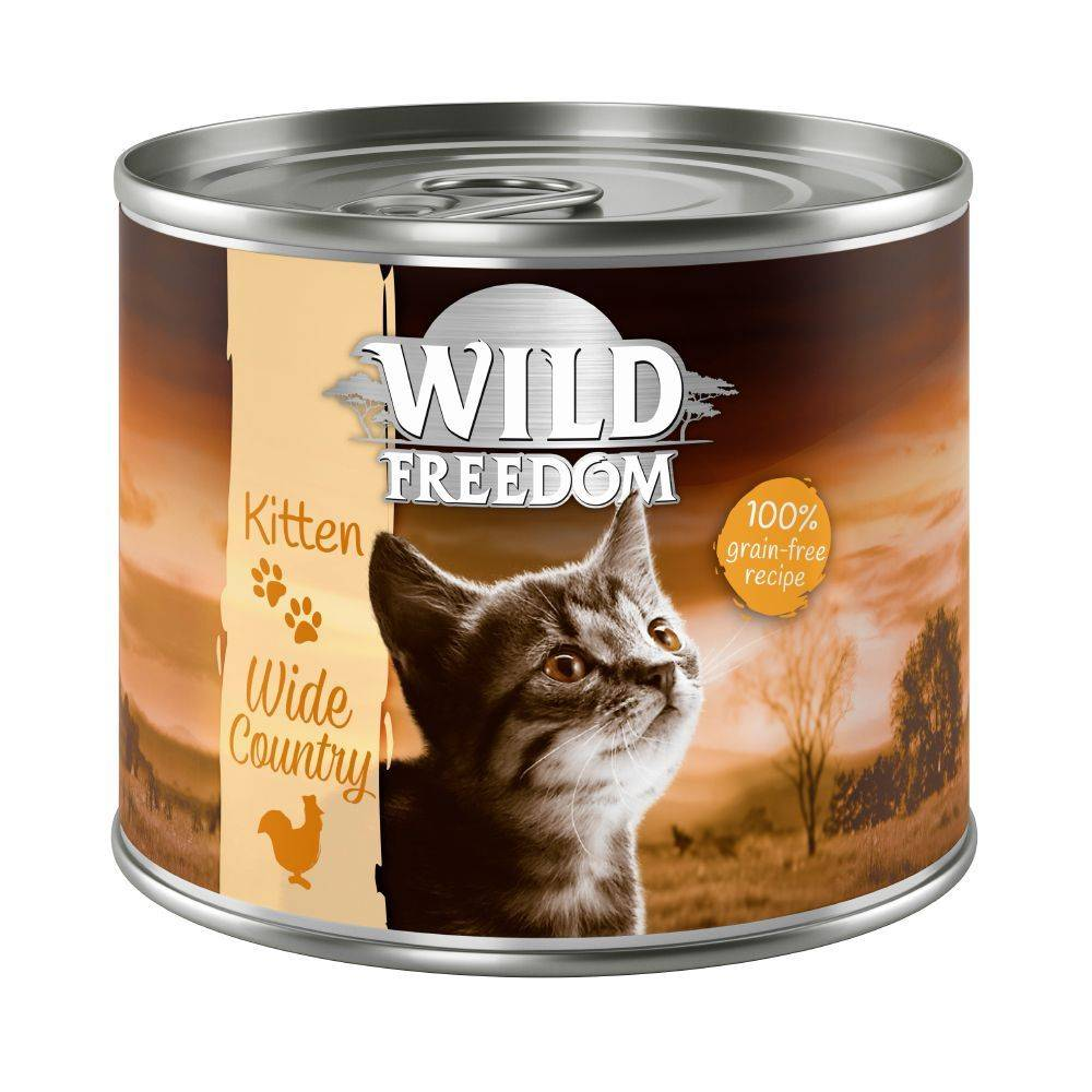 Wild Freedom 6x200g Kitten Wild Desert dinde, poulet Wild Freedom - Pâtée pour chat