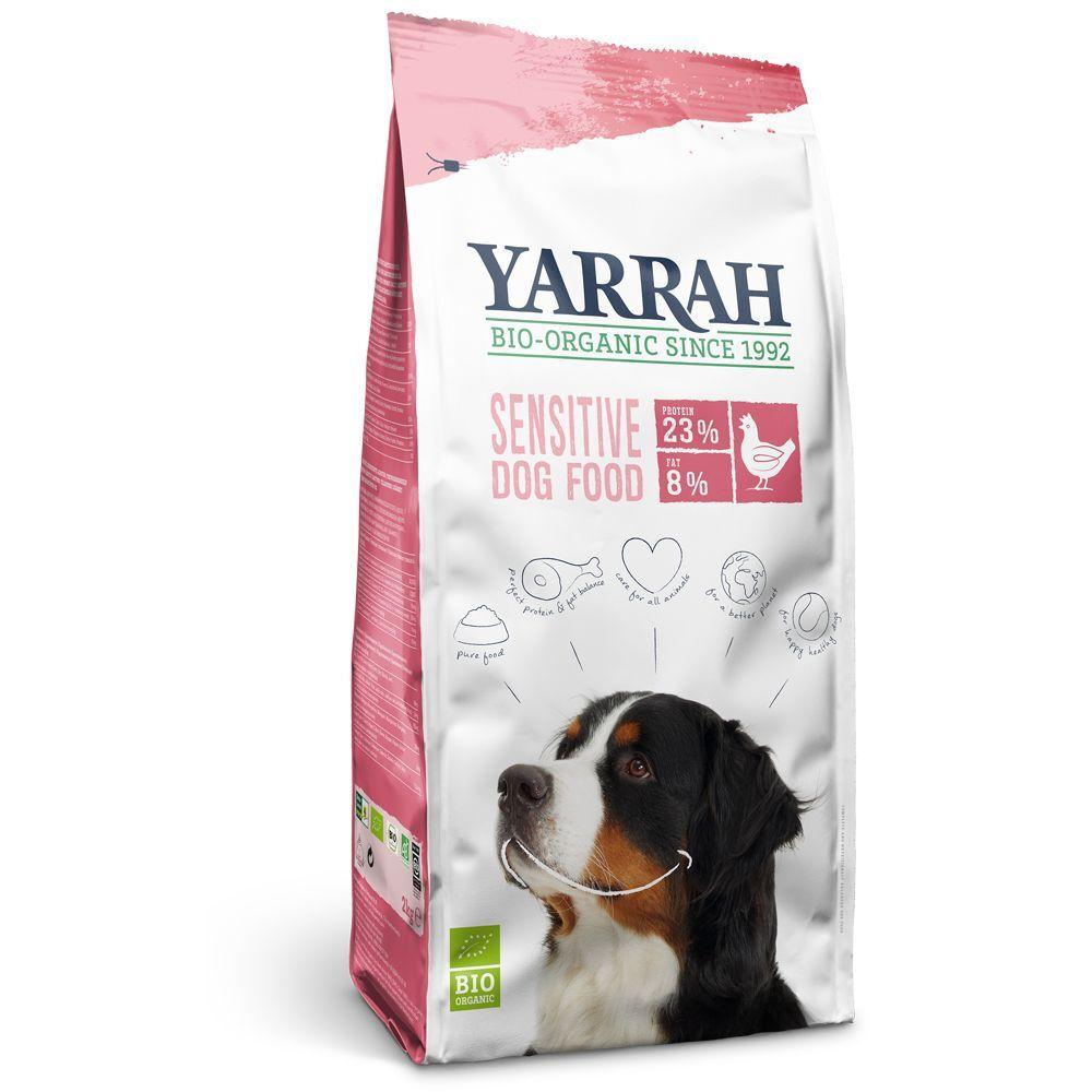 Yarrah Bio Sensitive, poulet & riz - lot % : 2 x 10 kg