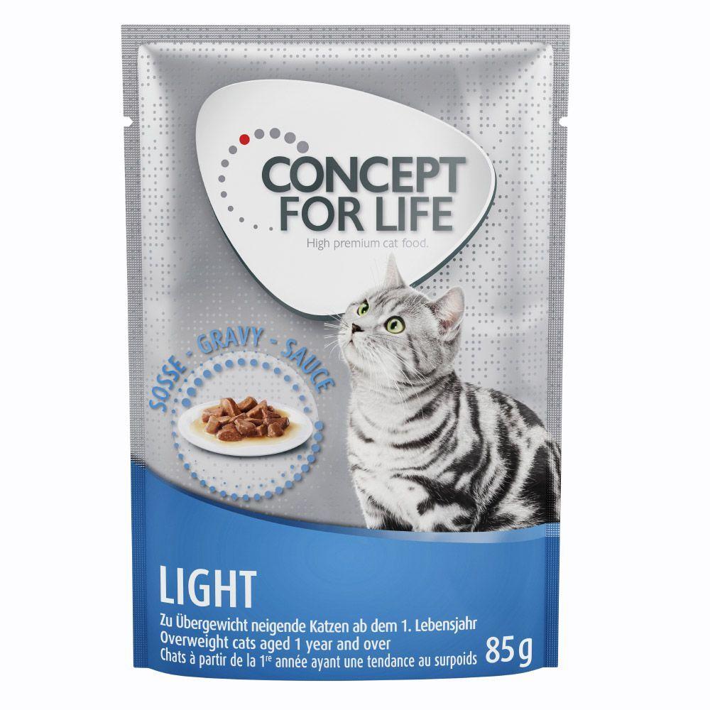 Concept for Life 24x85g Light en sauce Concept for Life - Pâtées pour Chat