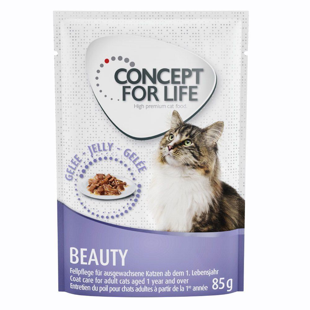 Concept for Life 48x85g Beauty en gelée pour chat Concept for Life - Pâtées pour Chat