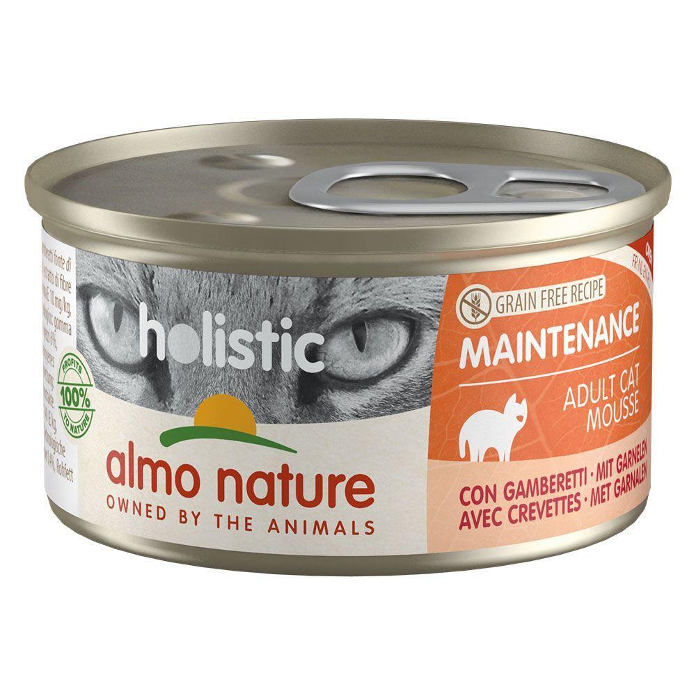 Almo Nature Holistic 6x85g Almo Nature Holistic Maintenance - crevettes - Pâtée pour Chat