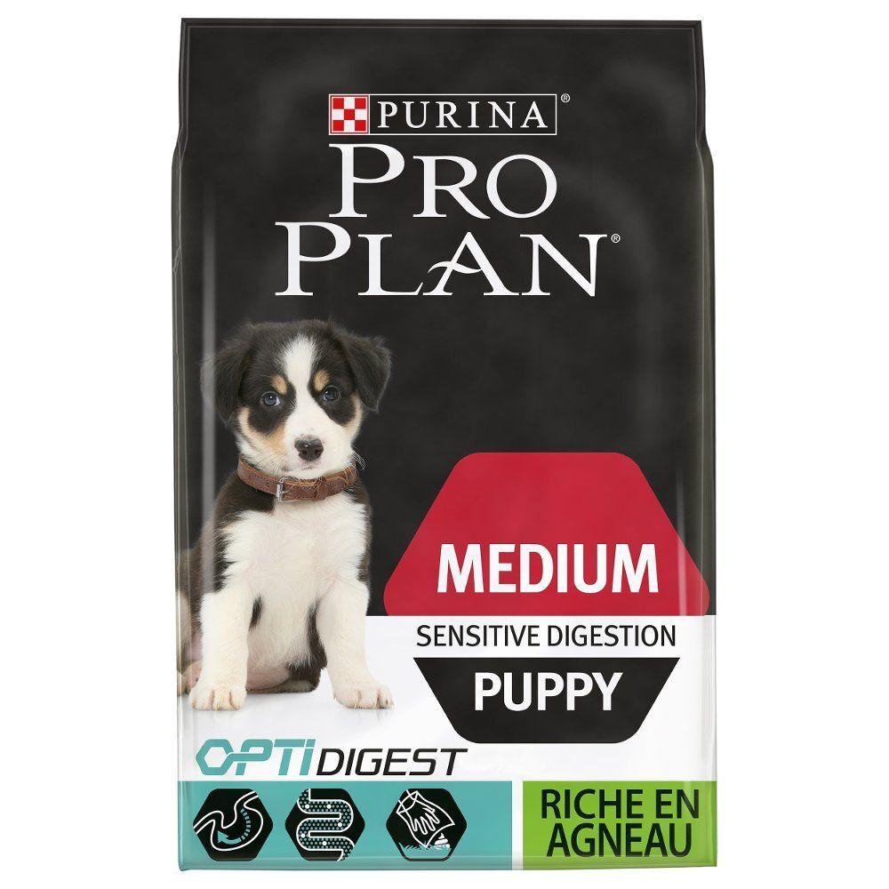 PRO PLAN Medium Puppy Sensitive Digestion agneau - lot % : 2 x 12 kg