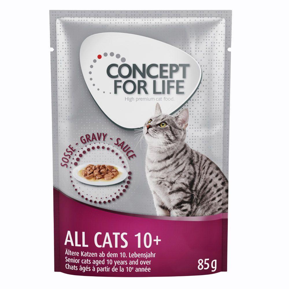 Concept for Life 12x85g All Cats 10+ en sauce Concept for Life - Pâtées pour Chat