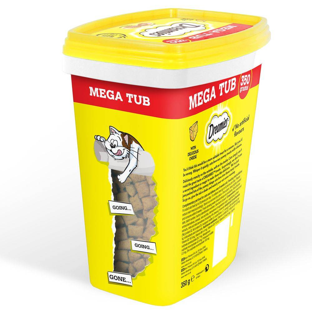 Dreamies Méga Tub Dreamies Catisfactions - lot % : poulet (2 x 350 g)