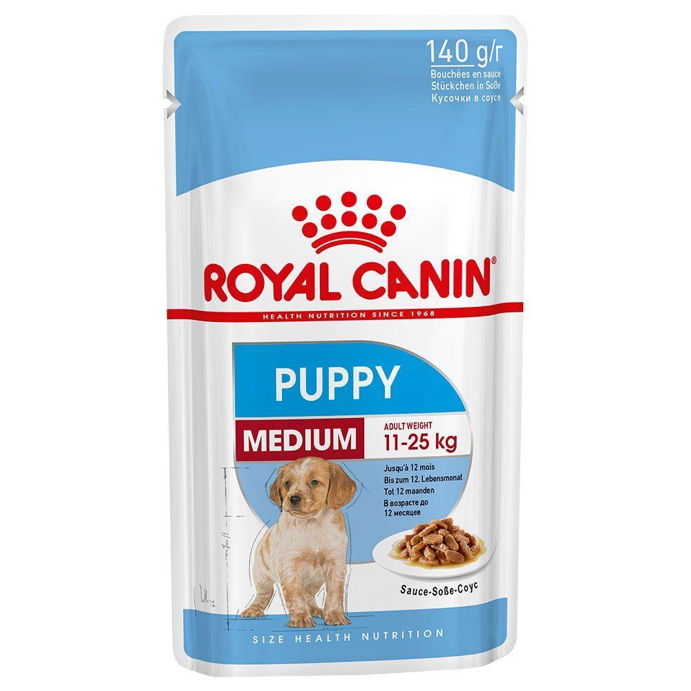 Royal Canin Size 10x140g Medium Puppy Royal Canin pour chiot jusqu'à 12 mois