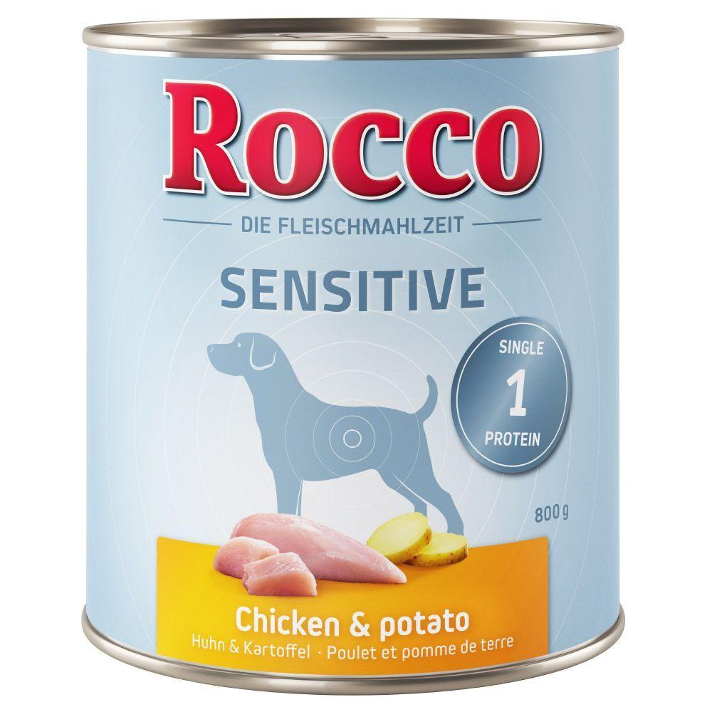 Rocco 6x800g Rocco Sensible agneau, riz - Pâtée pour chien