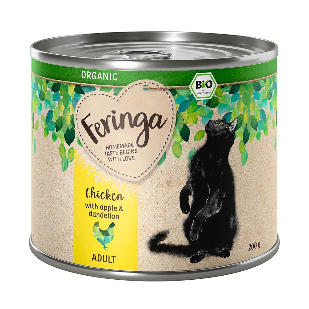 Feringa Lot Feringa Organic bio Adult 24 x 200 g pour chat - poulet, pommes,...