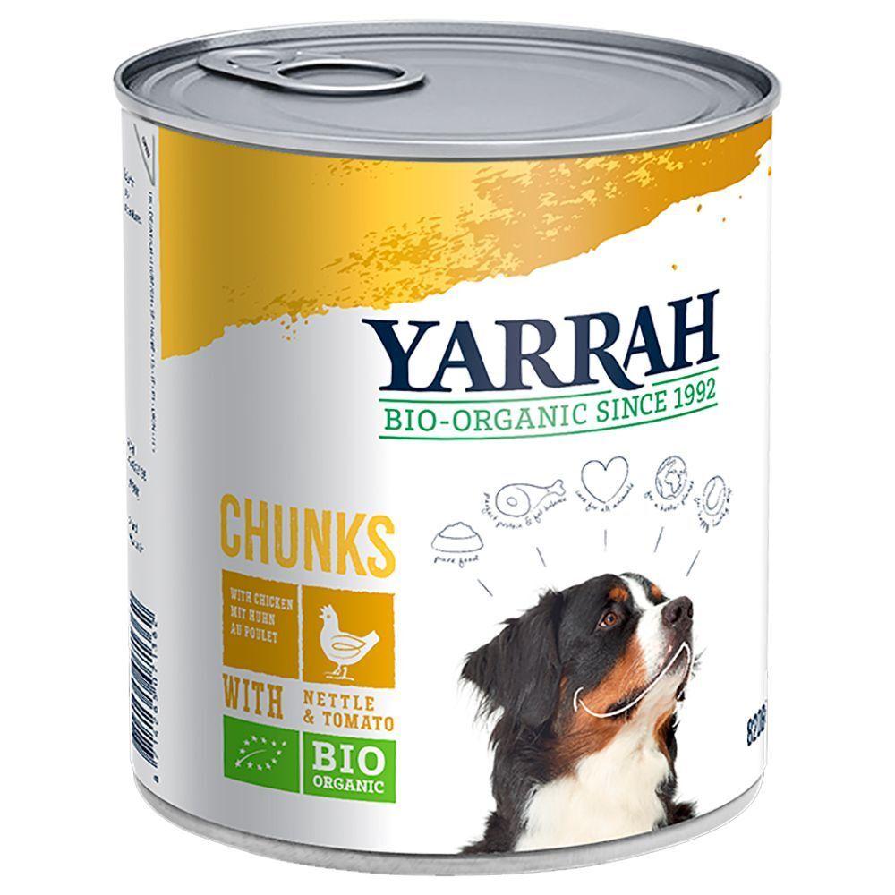 Yarrah Lot Yarrah Bio 18x820g, saveur poulet, boeuf, orties, tomates