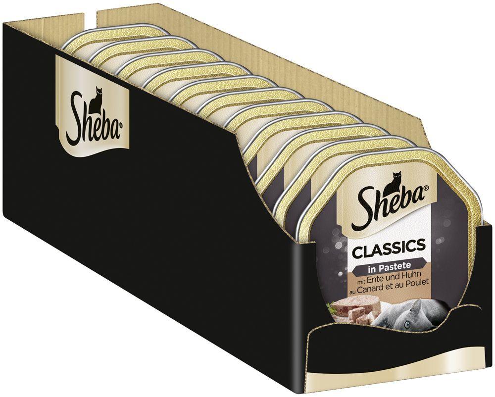 Sheba 44x85g Classics - saumon Sheba - Pâtée pour Chat