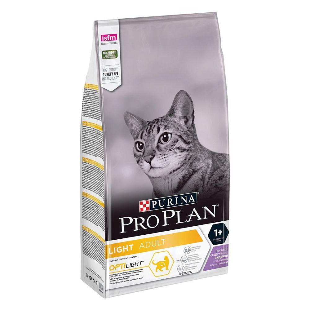Pro Plan 3kg PRO PLAN Light Adult riche en dinde - Croquettes pour chat