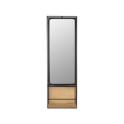Maisonetstyles Miroir 53x15x165 cm en bois et métal
