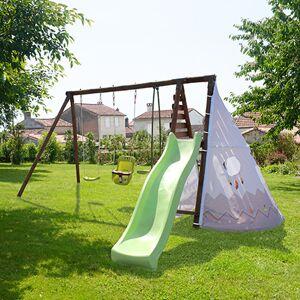 Maisonetstyles Portique 4,26 m avec toboggan, balançoire, siège bébé et vis-à-vis - Publicité