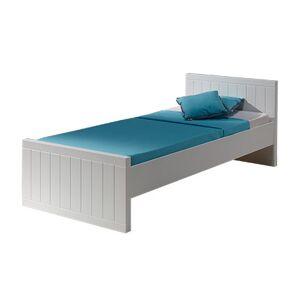 Maisonetstyles Lit 90x200 cm laqué blanc - BREVAL - Publicité
