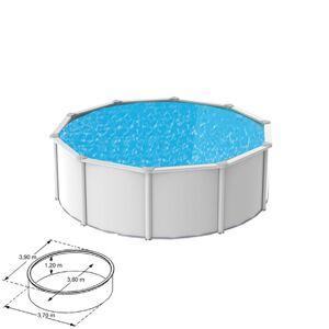 Maisonetstyles Piscine hors-sol acier coloris blanc diamètre 3,90m - SAPHIR - Publicité