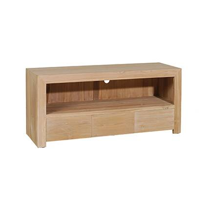 Maisonetstyles Meuble TV 3 tiroirs 120x40x55cm en teck - INA