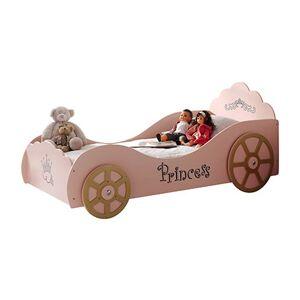 Maisonetstyles Lit princesse 210 x 90,4 x 106,8 cm + matelas rose - PRINCSS PINKY - Publicité
