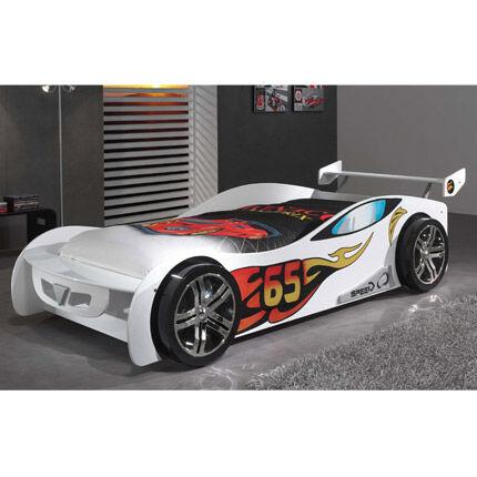 Maisonetstyles Lit voiture 90x200 cm blanc - CARINO