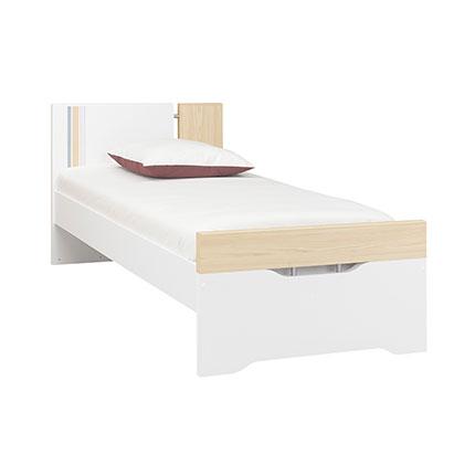 Maisonetstyles Lit 90x190/200cm naturel et blanc - EVAN