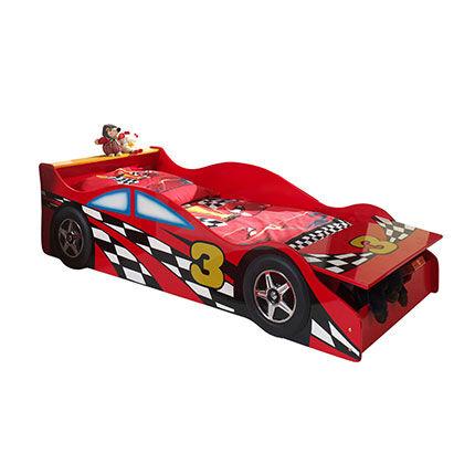 Maisonetstyles Lit voiture avec coffre de rangement 70x140 cm rouge - CARINO