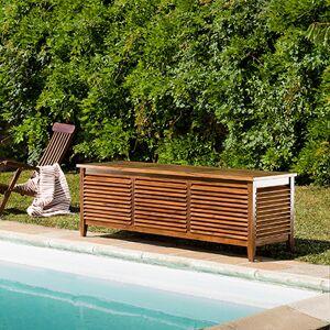 Maisonetstyles Coffre de jardin 200x57x65 cm en teck huilé - GARDENA - Publicité