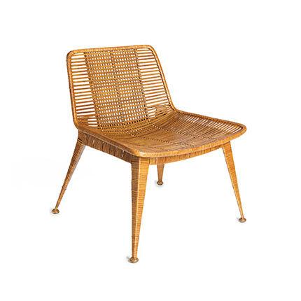 Maisonetstyles Chaise 61x62x71 cm en rotin miel clair