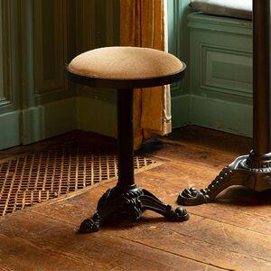 Maisonetstyles Lot de 2 tabourets bistrot 36x49,5 cm en lin et métal - Publicité