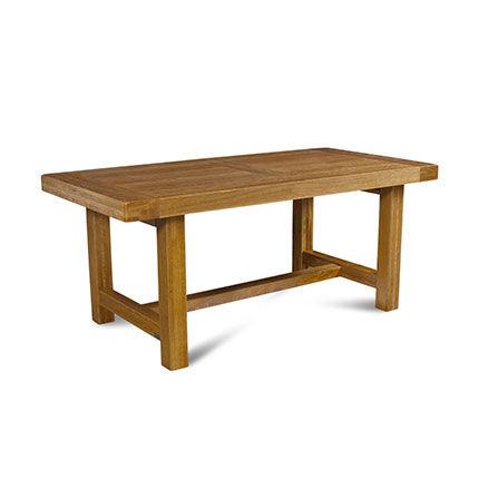 Maisonetstyles Table de ferme avec pieds carrés 180 cm en chêne moyen - HELENE