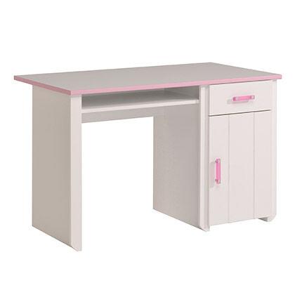 Maisonetstyles Bureau coloris blanc et rose indien