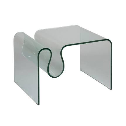 Maisonetstyles Table basse porte-revues en verre trempé - GLASS