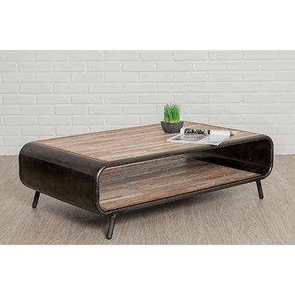 Maisonetstyles Table basse 120 cm en teck recyclé - JAKARTA