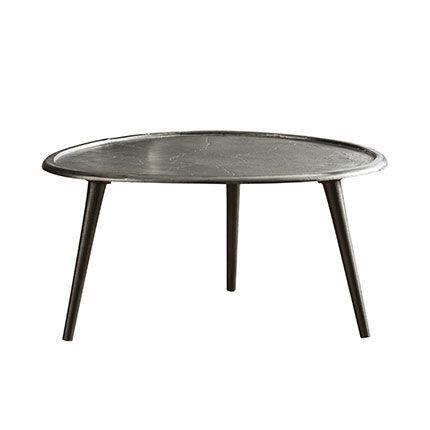 Maisonetstyles Table basse 73 cm en métal et acier noir -STEELY