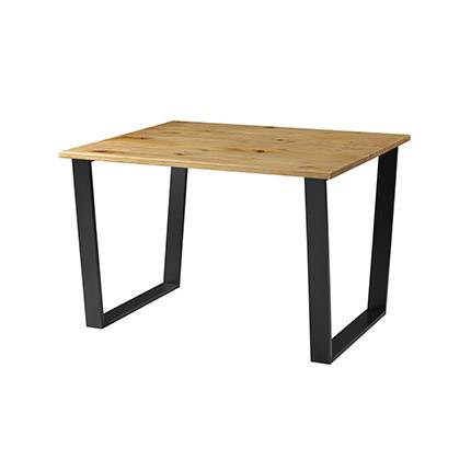 Maisonetstyles Table à manger 118x50x76 cm en bois massif et métal noir - HOLLY