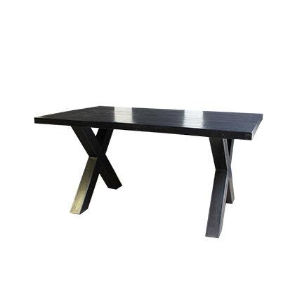 Maisonetstyles Table à manger 200 cm en manguier et métal noir vieilli - GUSTAF