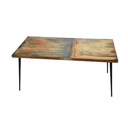 Maisonetstyles Table basse industrielle 110x60x45 cm en manguier et métal