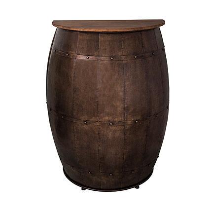 Maisonetstyles Mange-debout tonneau 89x43x111 cm en fer et sapin