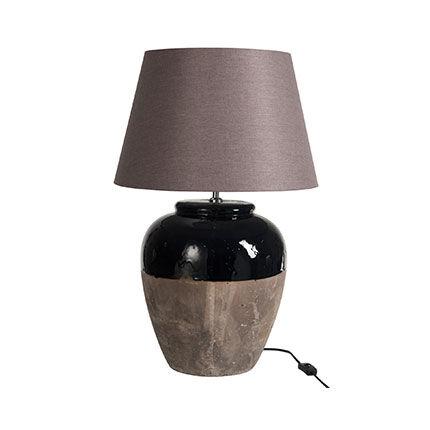 Maisonetstyles Lampe à poser en argile marron H48 cm