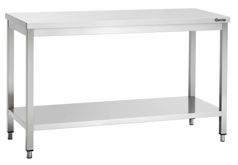 Bartscher Table travail sans dosseret avec sous etageres 600, L1400