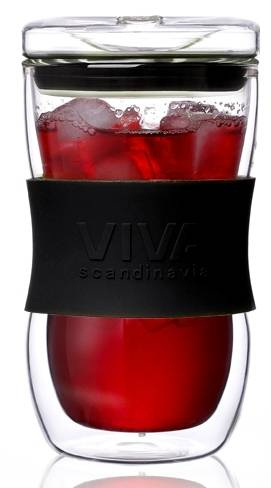 Lebrun Mug café en verre/silicone 35 cl