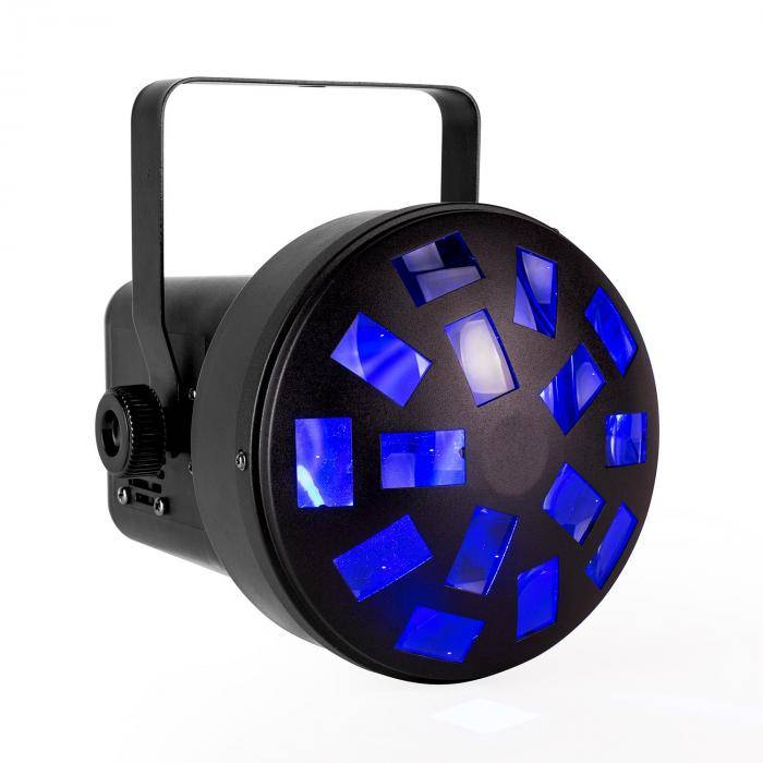 Ibiza Light Mini Mushroom Jeu de lumière disco 6x LED couleur