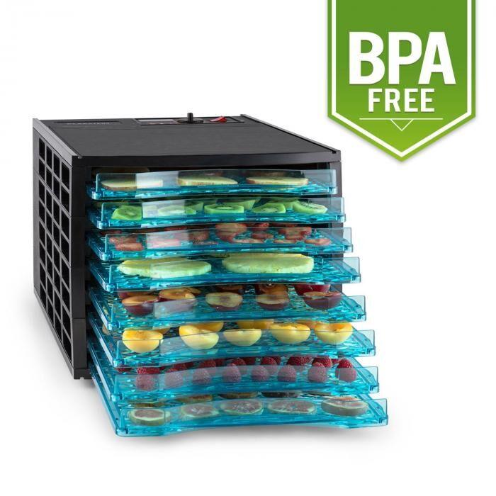 Klarstein Pro Fruit Jerky 8 déshydrateur alimentaire 650W 8 étages noir