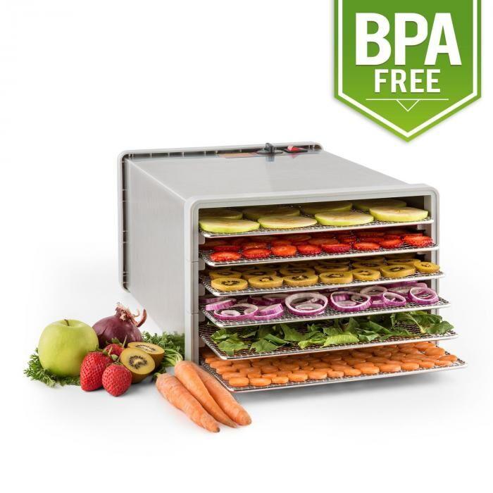 Klarstein Fruit Jerky Pro 6 Déshydrateur alimentaire 630W 6 étages acier