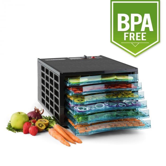 Klarstein Pro Fruit Jerky 6 Déshydrateur alimentaire 630W 6 étages sans BPA