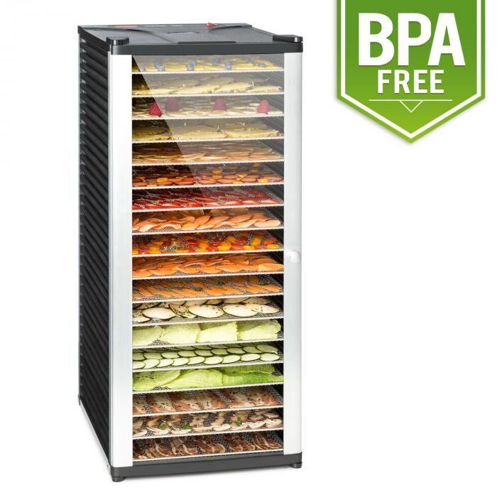 Klarstein Fruit Jerky 18 Déshydrateur alimentaire 18 étages1000W - acier noir