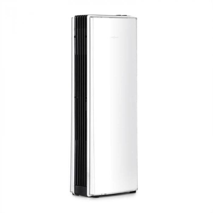 OneConcept St. Oberholz Office A Ioniseur ventilateur Purificateur d'air - blanc   Capacité de débit : 7,25 m/h (4.25 CFM)   Dimension de pièce adaptée : jusqu'à 10 m²   Niveau sonore (avec / sans ventilateur) : 40 / 15 dBA