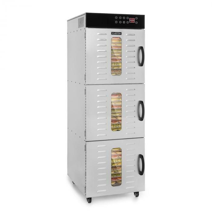 Klarstein Master Jerky 550 Déshydrateur alimentaire 2400 W 40-90 °C inox argent