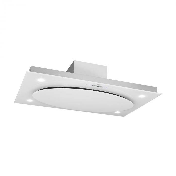 Klarstein Secret Service Hotte aspirante ilôt plafond 220W 800m³/h LED -blanc