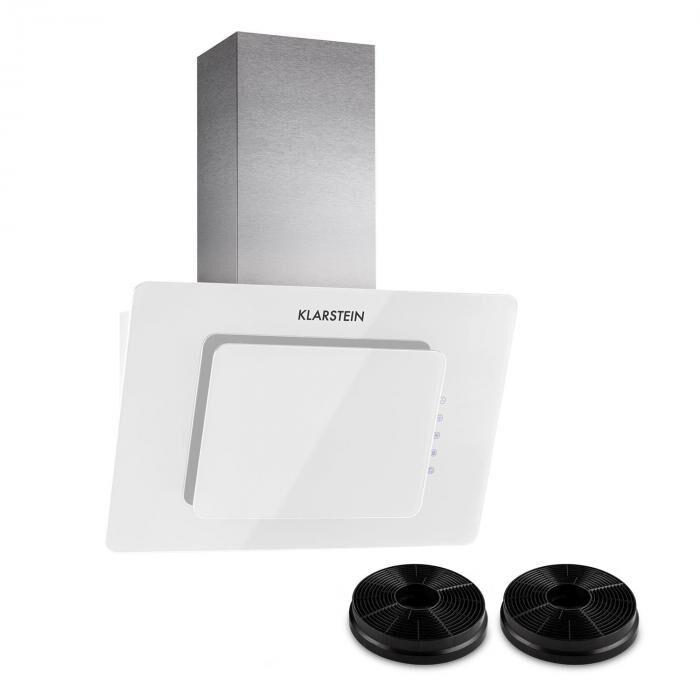 Klarstein Lorea 60 hotte aspirante 2 filtres à charbon actif inclus   blanc